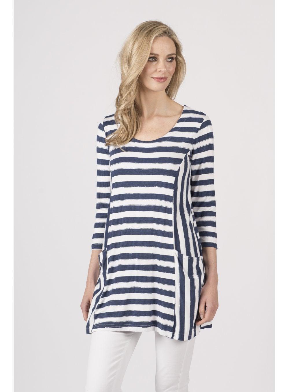 28457538c54 Brooke Stripe Print Tunic - Clothing from Capri Clothing UK